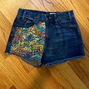 Levi Liberty London jean shorts, Rare.